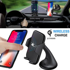 Qi Wireless Car Charger Holder Mount For iPhone X 8/8Plus Samsung S8 Plus Note 8