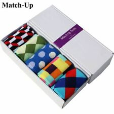 5 Pack Cotton Blend Multi Colored Men's Crew Length Socks (Box Not Included)