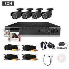 4/8-Channel H.264 Indoor/Outdoor DVR Kit with 4pcs 1/3 Color CMOS 800TVL Camera
