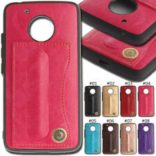 For Motorola Moto G5 Protective PU Leather Cover Soft Back Shockproof Stand Case