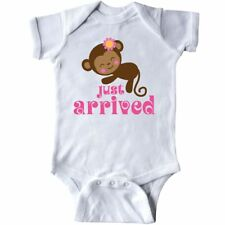 Inktastic New Baby Girl Cute Monkey Infant Creeper Arrival Just Arrived Kids Hws