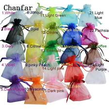 50pcs Organza Bags Packaging Bags Wedding Party Decoration Bags Gift Pouches