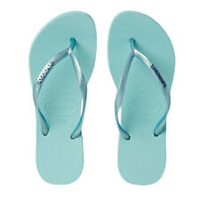 Havaianas - Slim Metal Logo Thong - Ice Blue