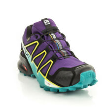 Salomon - Womens Speedcross 4 GTX Trail Running Shoe - Violet/Black/Turquoise