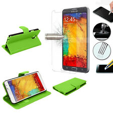 Protection Phone For Samsung Galaxy Note 3 Neo Briefcase + Tempered Glass Film