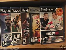PLAYSTATION 2 GAME: EA SPORT RUGBY, CRICKET, NFL STREET ETC