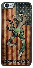 Browning Camo US Flag Hunting Phone Case Cover For iPhone Samsung HTC Lg iPod