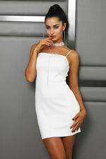 Women Sexy Lace Up Backless strap Sleeveless Bodycon Clubwear Short party Dress