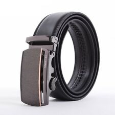 Automatic Buckle Men Belt Genuine Leather Casual Belt Waistband Fashion Strap