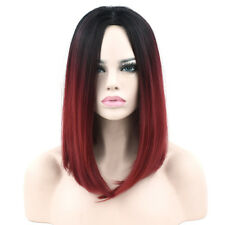 New Fashion Women Bobo Straight Hairstyle Ombre Color Synthetic Hair Wigs
