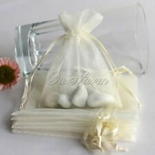 Wedding Favor Bag Pouch Organza Gift Candy Jewelry 50Pcs Baby Shower Decorations