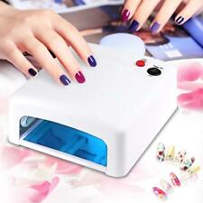 36W  UV Lamp Nail Art Dryer Gel Polish Curing manicure With 4 Bulbs & Timer A