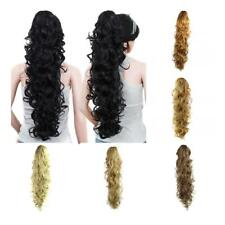 Heat Resistant Natural Wavy Hair Ponytail Clip On Extension Claw Pony Tail