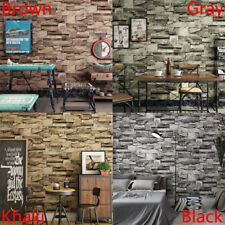 10M 3D Wallpaper Background decoration Mural Roll Realistic Stone Brick Wall New