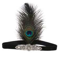 Peacock Flapper Headband Women Great Gatsby Fancy Dress Fascinator Headpiece