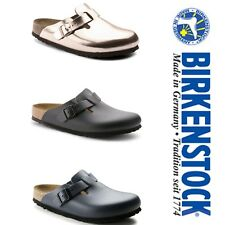 BIRKENSTOCK Boston Natural Leather Clogs - ALL COLORS
