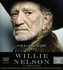 SEALED! It's a Long Story My Life Willie Nelson 8-CD Unabridged w/PDF of Photo's