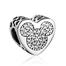 authentic Sterling Silver Charms Disney Mickey & Minnie True Love Charms Bead
