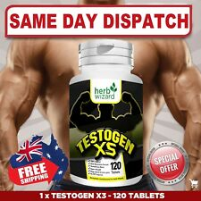 Testogen 3X STRONGEST LEGAL TESTOSTERONE MUSCLE BOOSTER - Aus Stock FAST SHIP!