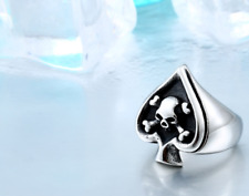 Skull Stainless Steel Men S Biker 316l Punk Silver Size Gothic Jewelry Rock Ring