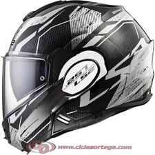 Casco modular LS2 VALIANT FF399 ROBOTO Black White Chrome talla S