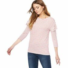 The Collection Womens Rose Striped Ruffle Sleeves Top From Debenhams Size