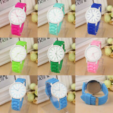 Casual Silicone Rubber Jelly Gel Quartz Analog Sports Women Students Wrist Watch