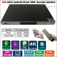 Android HDD Karaoke Jukebox/Player Burmese VCD Thai VCD DVD  3~8TB 58K Songs
