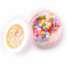 New Ice Cream Beads Slime - 120g White Based Slime With mixed colors Foam Beads