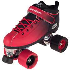Riedell 2 Tone Dart Black & Red Ombre Quad Roller Speed Skates