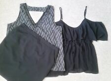 TOKITO CITY Lined Black Skirt OR x2 Jeanswest+ ASOS Sheer Sleeveless Top Size16