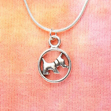 Scottie Dog Necklace, Scottish Terrier, Double Sided Pet Breed Lover, Scotty Dog