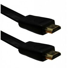 Flat HDMI Cable High Speed With Ethernet v1.4 Gold 1080p Full HD DVD Black
