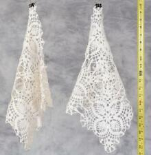 Vintage Lot of 2 Crocheted Doilies Table Covers jds2