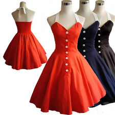 50s 60s Style Cotton Swing Vintage Dress Retro Rockabilly Pinup Party Dresses