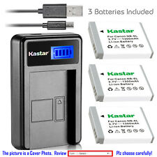 Kastar Battery LCD Charger for Canon NB-6L NB-6LH & Canon PowerShot D20 Camera