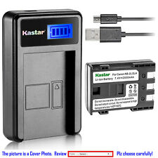 Kastar Battery LCD USB Charger for Canon NB-2L NB-2LH & Canon EOS 350D EOS 400D
