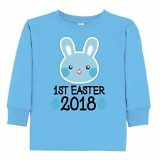 Inktastic 1st Easter 2018 Boys Bunny Rabbit Toddler Long Sleeve T-Shirt Babys