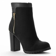 NEW! Juicy Couture Designer Livia Ankle Boots Shoes - Black or Brown