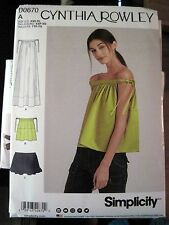 NEW SIMPLICITY PATTERN D0670 / 8381 MISSES DRESS /TOP CYNTHIA ROWLEY Sz XXS-XL