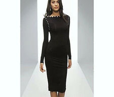 NWT $129 PREMIUM Jewelled MIDI Pencil DRESS with Scoop back  UK 8-16 by Asos