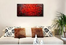 Framed ! Handmade Red Modern Abstract Art Textured Wall Decor Painting On Canvas