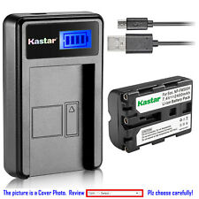 Kastar Battery LCD Charger for Sony NP-FM500H & Sony CLM-V55 ILCA-77M2 Camera