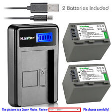 Kastar Battery LCD Charger for Sony NP-FP90 NP-FP91 NPFP90 NPFP91 & Sony HDR-HC3