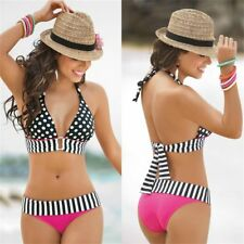 Sexy Women Swimwear Polka Dot Bikini Set Push-Up Padded Beachwear Bathingsuit NS