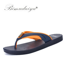 BIMUDUIYU Summer Outside Shoes Men New Brand Flip Flops High Quality Beach