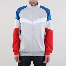 HUF Sprinter Track Jacket - Light Grey/Red/Blue