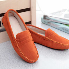 2018 Women's Loafers Ladies' Suede leather Driving Shoes Moccasins Slipper Flats