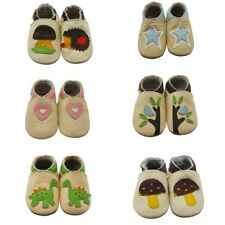 Sayoyo Toddler Prewalker Soft Sole Leather Baby Boy Shoes Beige Cartoon 0-3Year