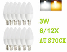 AU Candle Bulb Cool/Warm White Light Energy Saving Lamp AC 240V E14 3W SMD LED